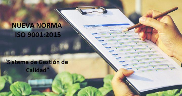 Nueva Norma ISO 9001 versión 2015 SINTRA